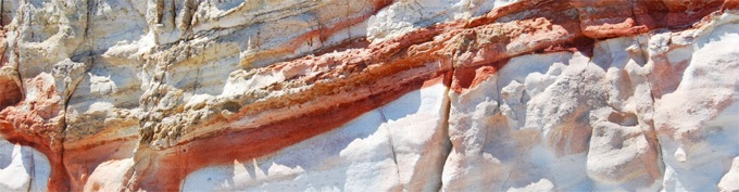 Colorful Rock Formations in Peran Triovasalos